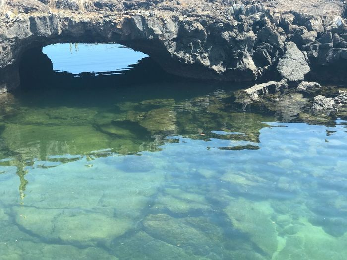 Rocks & reflection . Los túneles. Galapagos Galapagos Los Tuneles Nature Water Reflection Beauty In Nature Rock - Object No People Day Tranquility Outdoors Sea Scenics Sky An Eye For Travel