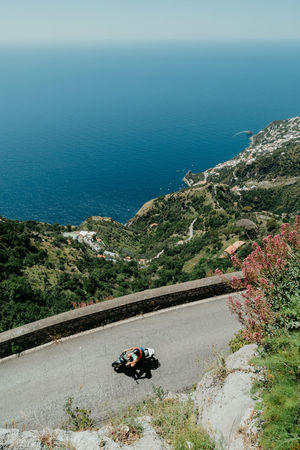 From Above  Positano Amalfi Coast Sea Ocean Amalfi Italy Bike Scooter Dream Vacation Blue First Eyeem Photo