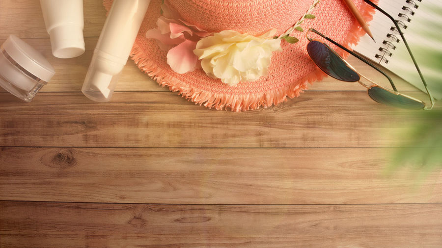 Background Beauty Concept Copy Creative Exotic Flat Lay Hat Holiday Journey Lifestyle Object Palm Photography Pink Space Summer Summer Holiday Summertime Sunglasses Top View Tourism Travel Trip Tropical Vacation Weekend Wood Wooden