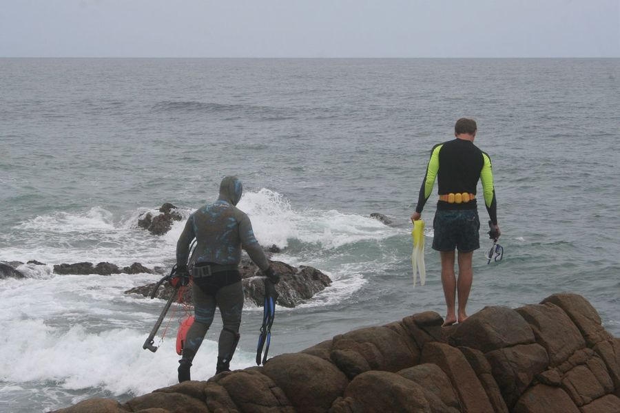 Adventure Buddies Connected By Travel Exploring Snorkeling Adventure Beach KwaZulu-Natal Coast Leisure Activity New Friends Rock - Object Sea Spearfishing Togetherness Two People Vacations Weekend Activities