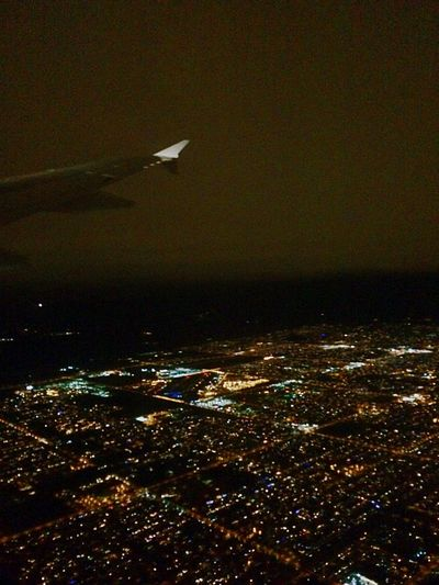 Traveling Home For The Holidays Nightskyline Night Flying City Lights By Night City Lights City Lights At Night Night Flight City At Night Florida Skyline Flying Flying At Night Christmas Flight Going Home Florida To Arizona Aerial View Airplane Wing Travel Night Transportation Airplane Journey