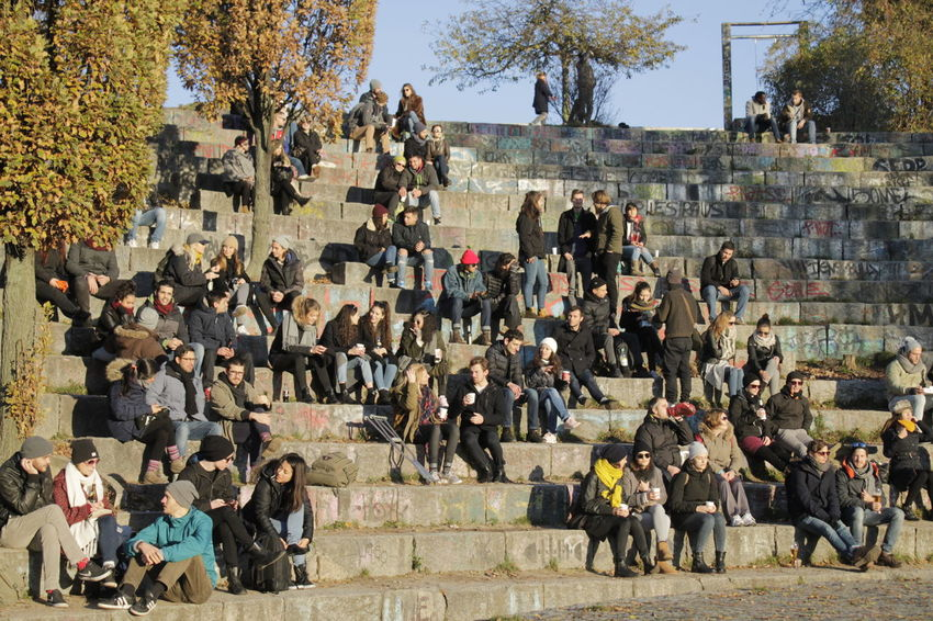 Beautifully Organized Capture Berlin Large Group Of People Crowd Real People Day Tree Urban And Nature EyeEm Best Shots My Fuckin Berlin Eye4photography  In The Park Lifestyles From My Point Of View Lensculture Full Length Sunshine Mauerpark November Autumn Melancholy Autumn Leaves Autumn Urban Exploration In A Row Life Style