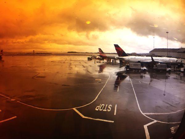 Airplane Airport Sky