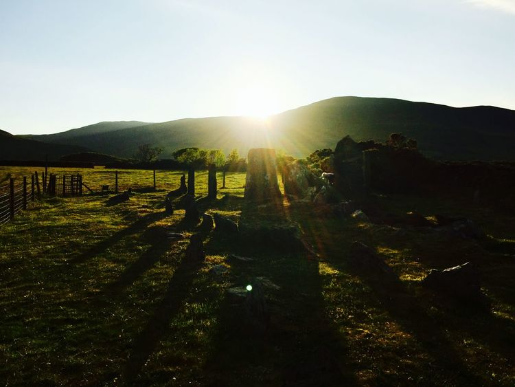 Sunset Standing Stones Isleofman The Secret Spaces The Great Outdoors