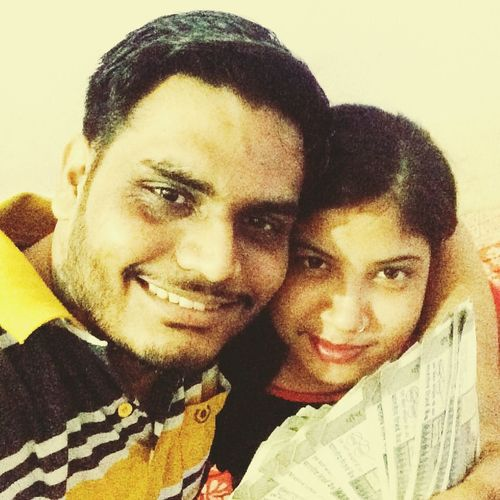 Salary time selfie with Wife Portrait Togetherness Two People Headshot Looking At Camera Young Adult Couple - Relationship