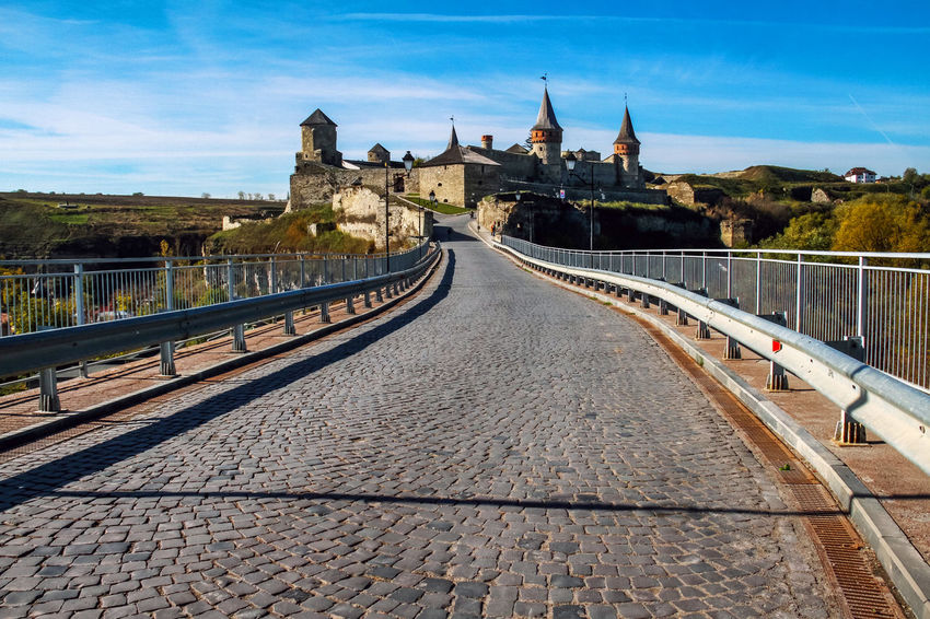 Castle The Week on EyeEm Tourist Attraction  Travel Architecture Bridge - Man Made Structure Building Exterior Built Structure Castle Day History Kamenets-Podolsky Nature No People Outdoors Place Of Worship Sky Tourism Travel Destinations Tree