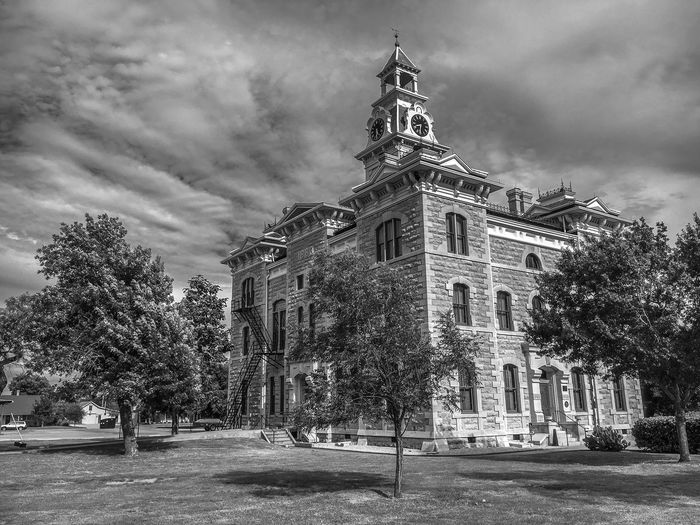 Albany, Tex Architecture Blackandwhite Building Exterior Built Structure Exterior Sky Texas Courthouse Travel Destinations