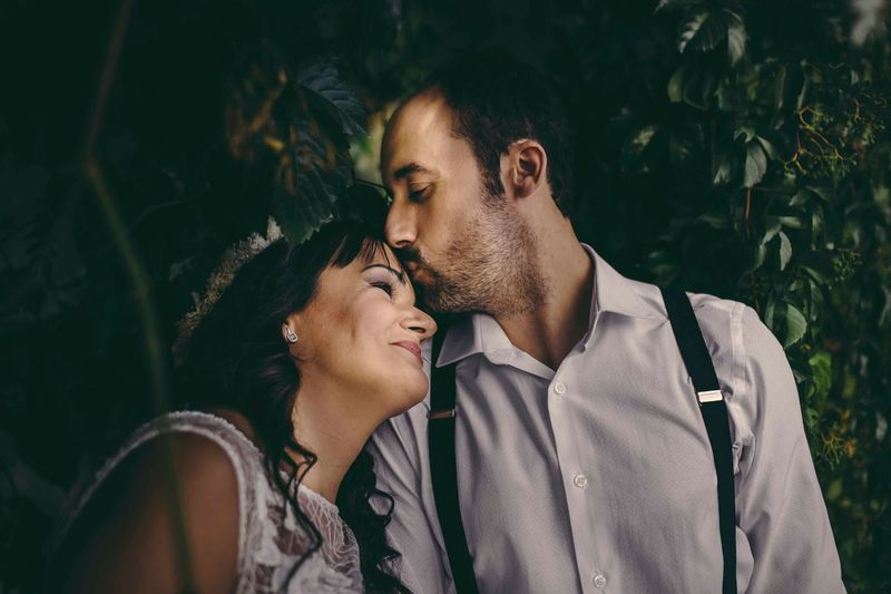 Love Two People Lifestyles Young Couple Men Romance Dating Young Women Happiness Wedding Wedding Photography