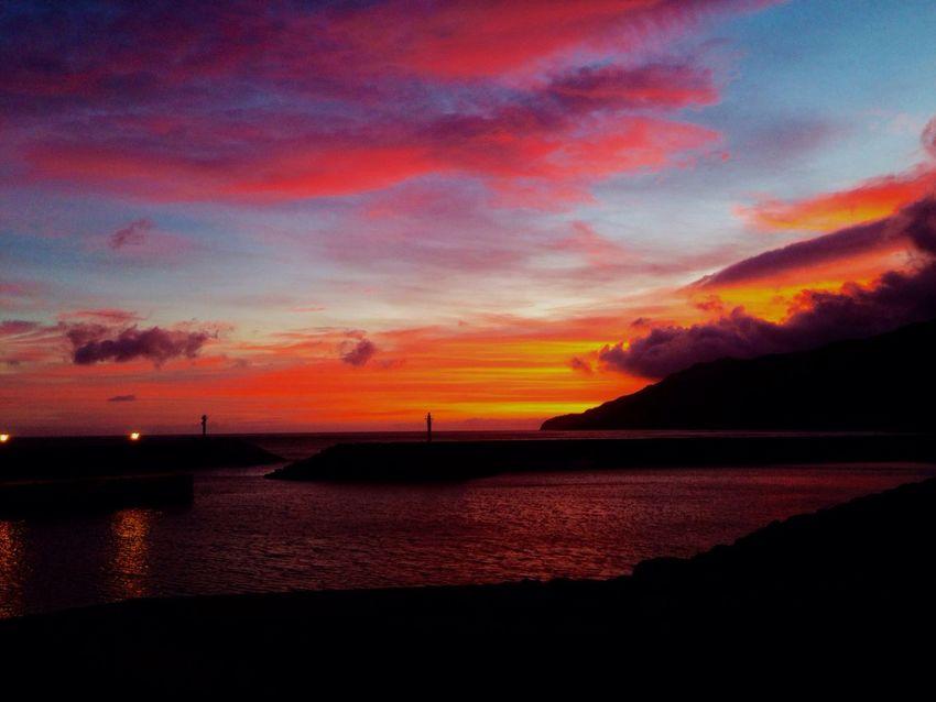 Sunset Mobilephotography Azores Islands Azores Azores, S. Miguel Sao Miguel- Azores Povoação O Mais Lindo Dos Acores
