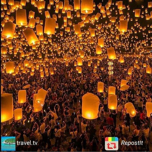Günaydın 😊 Harika bi festival 🎇🎇🎇 Bol sans bol kazanç Laternfestival Chiangmai Thailand