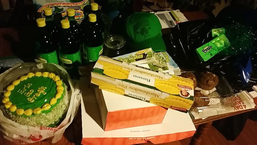 Stuff from my uncle for St. Patricks Day. A little early, but still love it! ^-^ Stpatricksday Luck Of The Irish Green