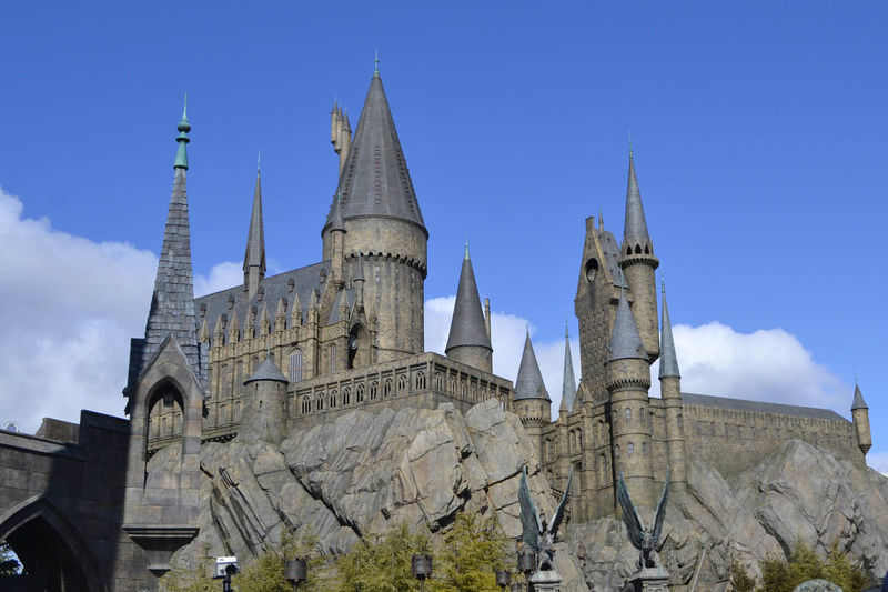 Architectural Feature Architecture Blue Building Exterior Built Structure Day Famous Place Harry Potter History Hogwarts Low Angle View No People Outdoors Sky Spire  Steeple Tall The Past Tourism Tower Universal Studios Japan Wizardry