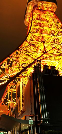 Tokyo Tower EyeEm Selects City Carousel Architecture Built Structure Sky Amusement Park Amusement Park Ride