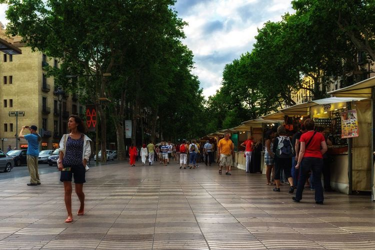 La Rambla Streetphotography Street Large Group Of People Tree Real People Men Leisure Activity Women Built Structure The Way Forward Sky Day City Outdoors Lifestyles Nature People Adult