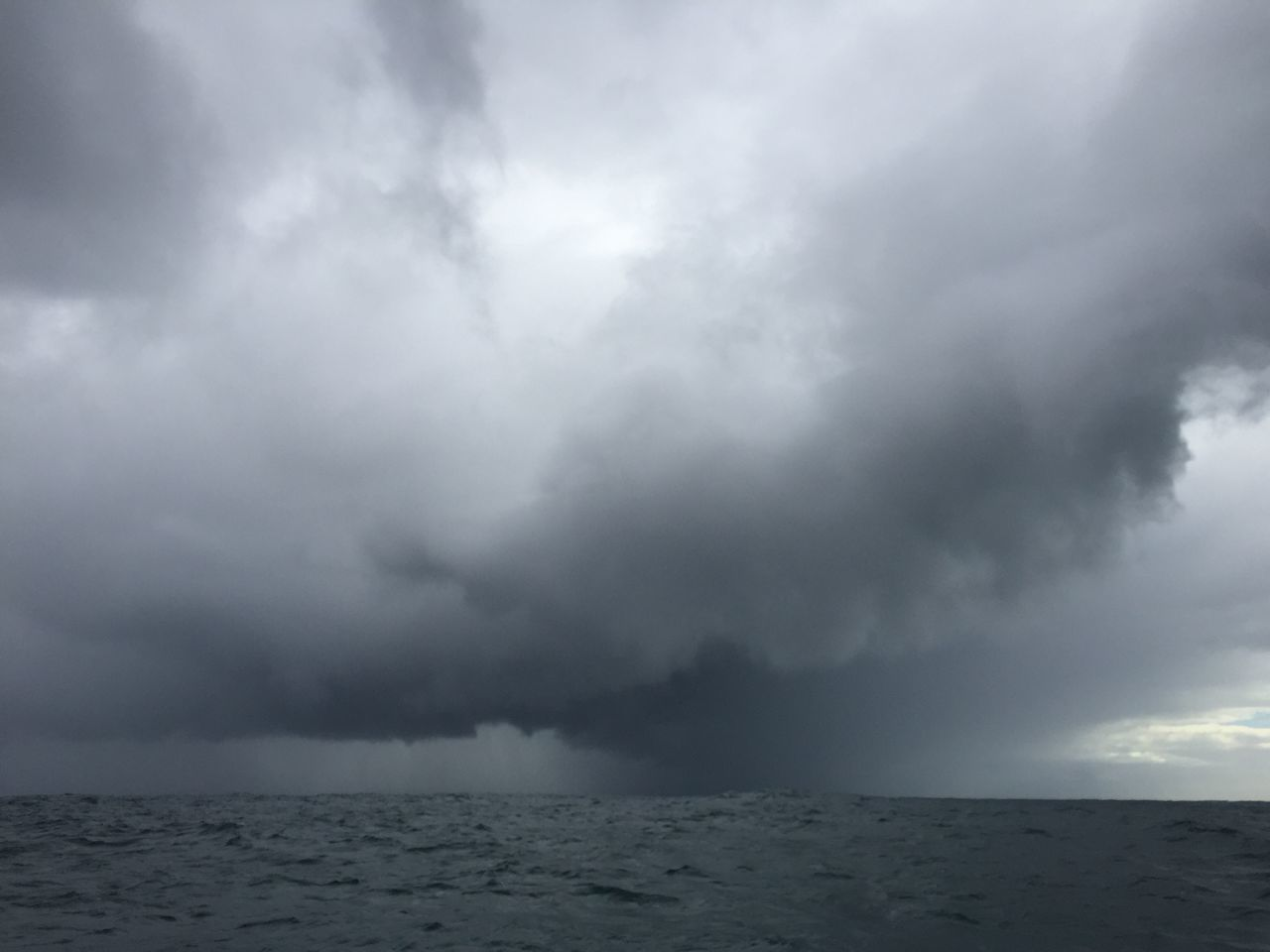 STORM CLOUDS OVER SEA AGAINST CLOUDY SKY