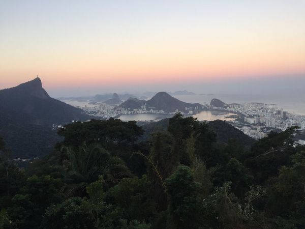 Rio De Janeiro Beauty In Nature Nature Mountain Landscape Forest Tranquil Scene Sunset Brazil Outdoors Vista Chinesa Christ The Redemeer
