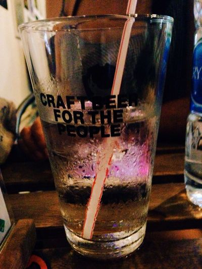 Craft Water for the people Hanging Out Craft Beer My Local Local Living Bangkok Bangkok Thailand. Local People Water Glass Of Water Straw In A Glass