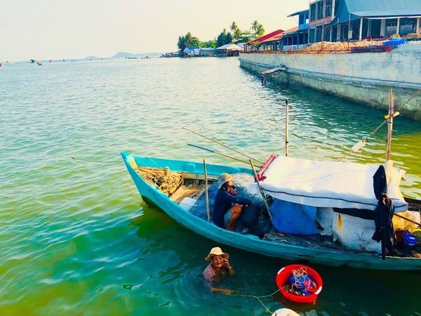 Water Nautical Vessel Transportation Mode Of Transportation Nature Day Adventures In The City Sea Fishing Net Beauty In Nature Sunlight Fishing Boat