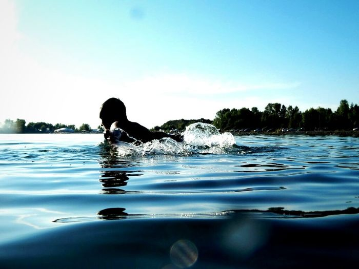 One Person Water Reflection Sport Swimming Nature People Outdoors Swimming Pool Day Real People One Man Only Sky Adult