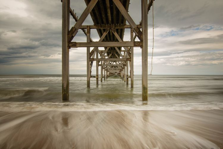 Under the pier Pier Steetly Pier Underthepier Seascape Photography Backwash Sigma 10-20 Clouds And Sky Nikonphotographer Nikonphotography Long Exposure Beach Beachphotography Seascape Sea And Sky Steetly Sigma 10-20mm Nikon Beach Photography Nikond7200 Nisi NiSi Filters Amazing
