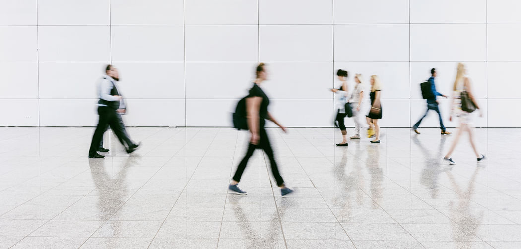 People Walking On Floor