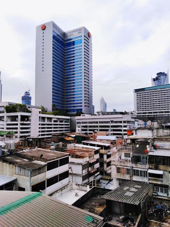 building tower in bangkok city City Metropolis Bangkok Thailand Town City Cityscape Urban Skyline Skyscraper Business Finance And Industry Sky Architecture Building Exterior Office Building Tall - High Tower Tall