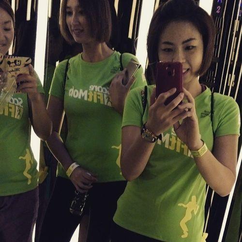 Selfie before going the largest Zumba® Fitness Party @ Stadium Merdeka 😄 Zumbafitness Livegreat Scorefitmob