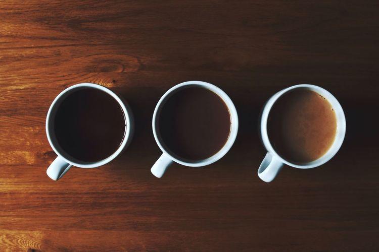 Eyeemphoto Tea Drink Cup Wooden Table Oak Shades Earl Grey Tea Increasing Gradient Brown Dark And Light