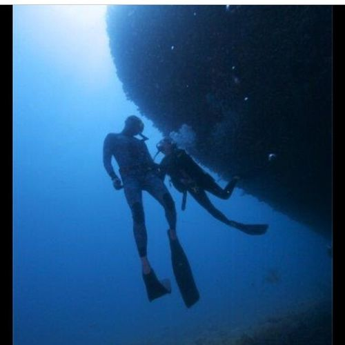 Scuba Diving Freedivewithlove Blue Ocean Bigblue
