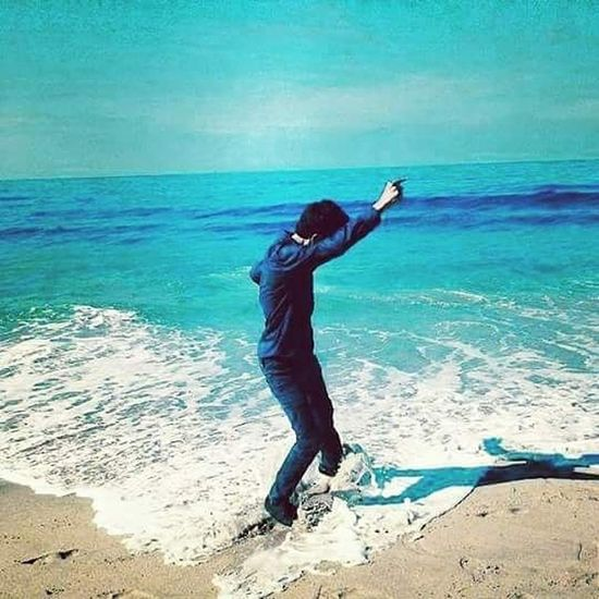 Sea And Sky Beach Life Hi! Bluesky Blue Me I'm Great That's Me Interesting Good Look Hello World Picture Relaxing Beautiful Summer ☀ Sand