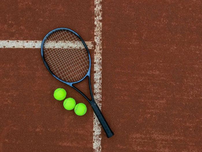 High angle view of a ball