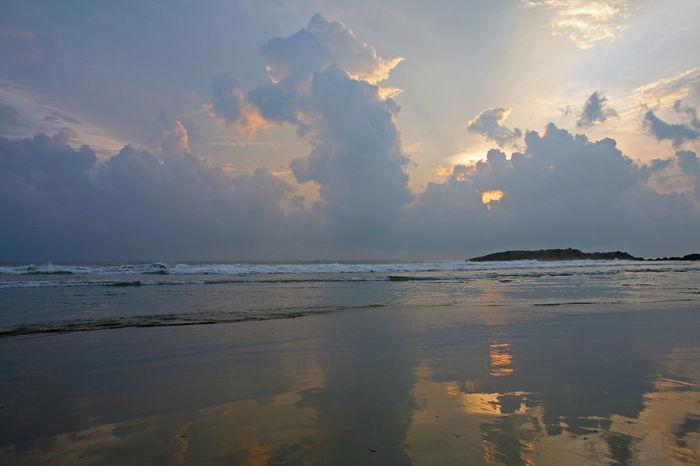 India Indian Kovalam Kovalam Beach Reflection Thiruvananthapuram Beach Beauty In Nature Glassy Water Horizon Over Water Kerala Nature Outdoors Scenics Sea Sky Sunset Tranquil Scene Tranquility Trivandrum Water