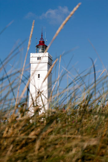 Autumn Mood Lighthouse Building Exterior Architecture Guidance Built Structure Tower Nature Sky Land Outdoors Direction Sea Building Grass Day Danmark Denmark Blåvand Light Lighthousephotography Holiday Blue Sky BIG Human In Nature
