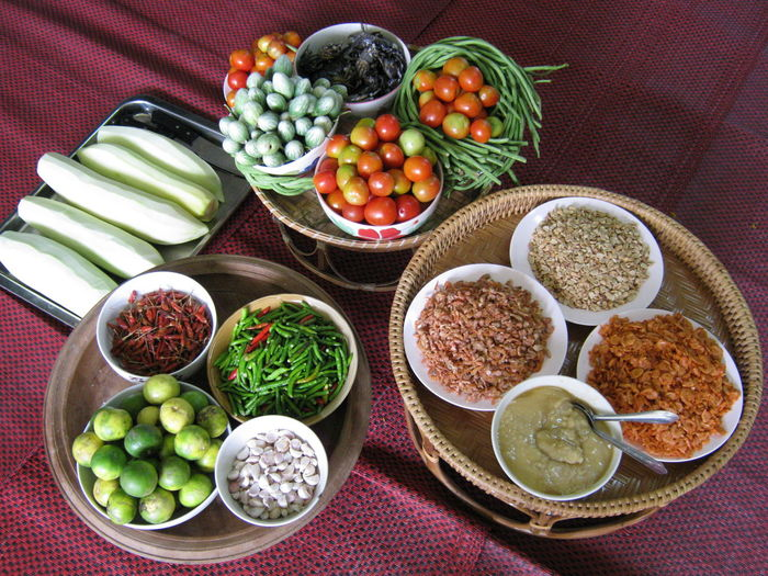 Thai food Abundance Arrangement Bowl Choice Close-up Cucumber Food Freshness Green Color Group Of Objects Indulgence Large Group Of Objects Multi Colored No People Organic Ready-to-eat Serving Size Spice Still Life Thai Food Variation