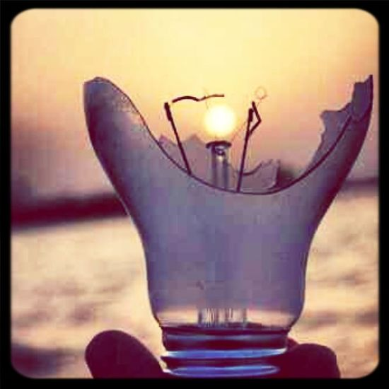 Lightbulb as in Bulb with Sun as in Sunset :)
