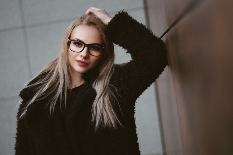 Dena Fujifilm Xpro2 Fujifilm_xseries Fujixseries Slovakia Lovely Fashion Photooftheday The Week on EyeEm Oneperson One Woman Only One Person Portrait Adult Only Women Adults Only Looking At Camera Eyeglasses  Long Hair Young Adult People Beautiful Woman Blond Hair Women Young Women