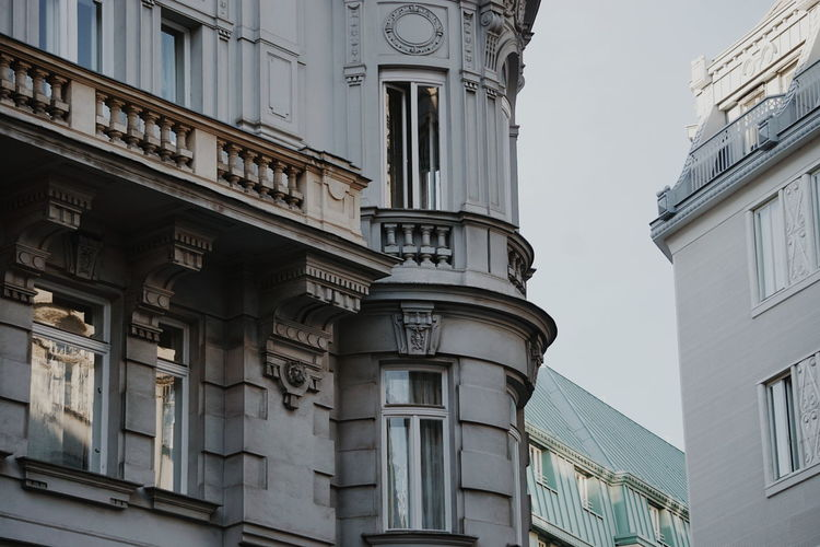 Beautiful old buildings in Vienna Architecture Old Buildings Classical Architecture Architecture Building Exterior Building Exterior Building Balcony Vienna City History Clock Face Clock Sky Architecture Building Exterior