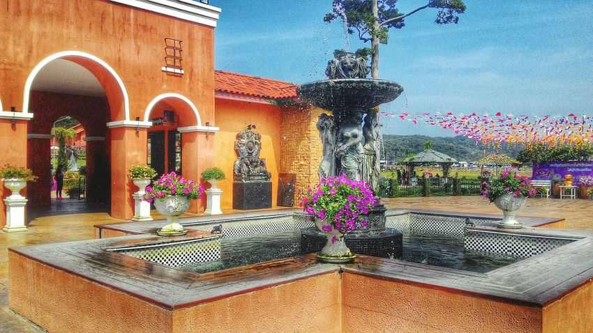 Architecture Potted Plant Built Structure Building Exterior Religion Spirituality Place Of Worship Plant Statue Growth Clear Sky Flower Temple - Building Outdoors Day Sky