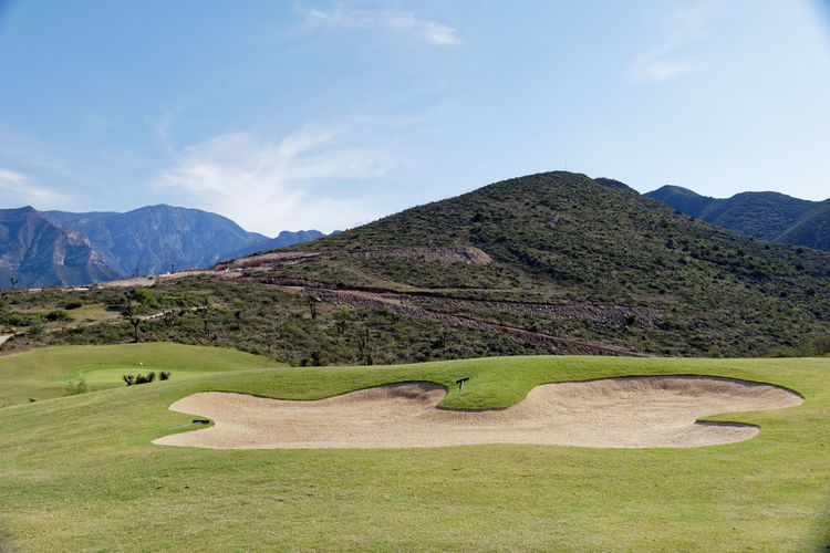 Golf course Golf Golf Club Golf Course Green Landscape Mountain Range Outdoors Scenics Fairway Sandtrap
