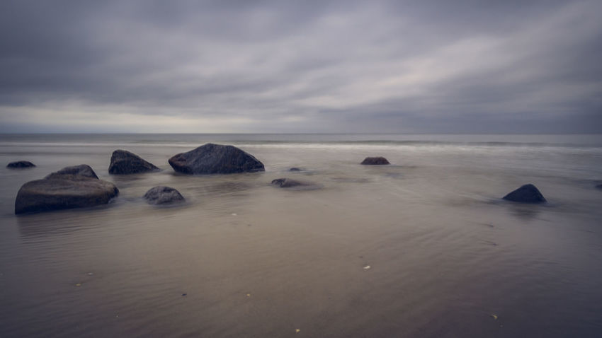 Stones in the Water Baltic Sea Rügen Beach Beauty In Nature Cloud - Sky Horizon Horizon Over Water Iceberg Idyllic Land Long Exposure Longexposure Nature No People Outdoors Rock Rock - Object Scenics - Nature Sea Sky Sky_collection Solid Tranquil Scene Tranquility Water