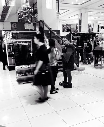 Christmas shopping Streetphoto_bw Streetphotography Bw_collection Elf