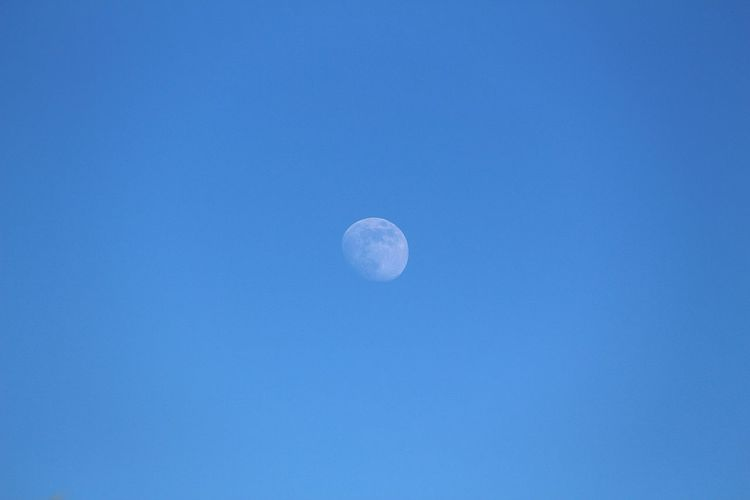 Moon Astronomy Blue Low Angle View Nature Planetary Moon Lune Sky Moon Surface Ciel