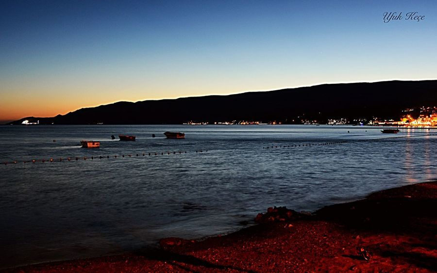 Kumla,gemlik Summer Water Mountain Sunset Sea Nature Silhouette Beach