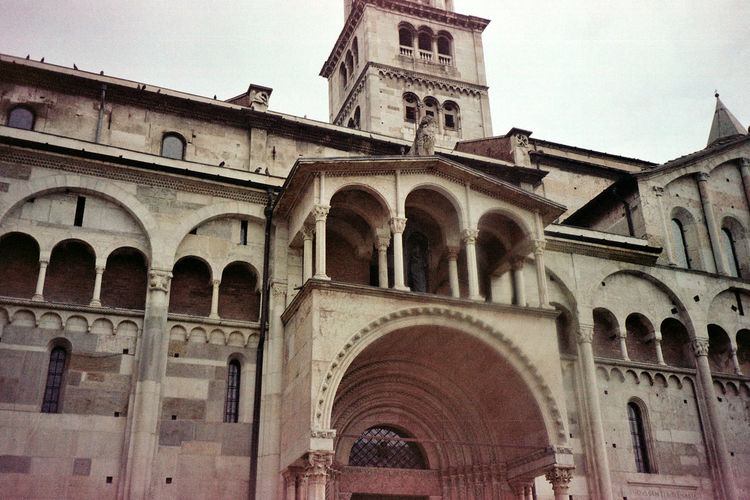 Found and Reused Film. Architecture Building Exterior Arch Religion Travel Destinations Low Angle View City Day Architecture Leiblingsteil Adapted To The City Filmphotography Modena Streetphotography