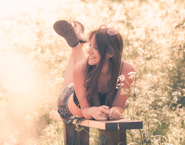Atmosphere Feeling Happiness Happy Nature Relaxing Sunlight Emotion Flowers Girl Hairstyle Happiness Long Hair Nature Outdoors Relax Season  Smiling Spring Summer Sunlight Sunshine Women Young Adult Young Women