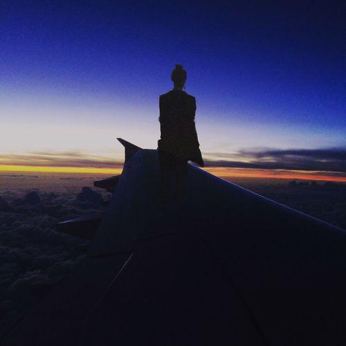 Traveling in an Unbelievable Way Flight ✈ From An Airplane Window Wings Fernweh Sky Sunset The Traveler - 2018 EyeEm Awards