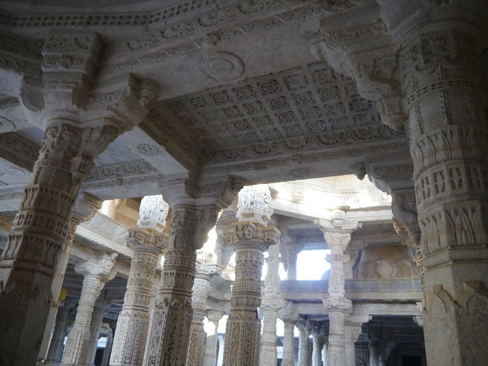 Aravalli Mountain Range Architecture Day Indoor Temple Indoors  Jain Temple Rajasthan Ranakpur Jain Temple