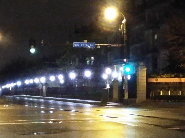 Break The Mold Night Illuminated Street Light Looking At Camera EyeEmNewHere