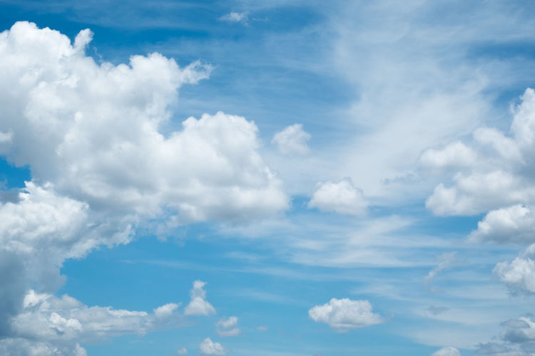 Backgrounds Beauty In Nature Blue Cloud - Sky Day Full Frame Low Angle View Nature No People Outdoors Scenics Sky Sky Only Tranquil Scene Tranquility White Color