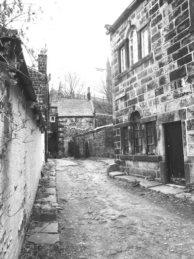 Taking Photos Path Heptonstall Black And White Monochrome Buildings Black & White Pathway Stones Learn & Shoot: Balancing Elements Learn & Shoot: Leading Lines Light And Shadow EyeEm Best Shots Heptonstall Museum Hebden Bridge Landscape Quaint  Village Simplicity Nature On Your Doorstep Old Architecture Houses England Old School House Road